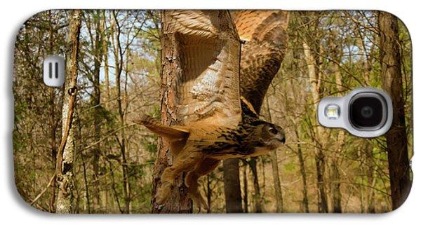 Eurasian Eagle Owl In Flight Galaxy S4 Case