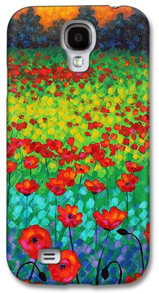 Evening Poppies Galaxy S4 Case by John  Nolan