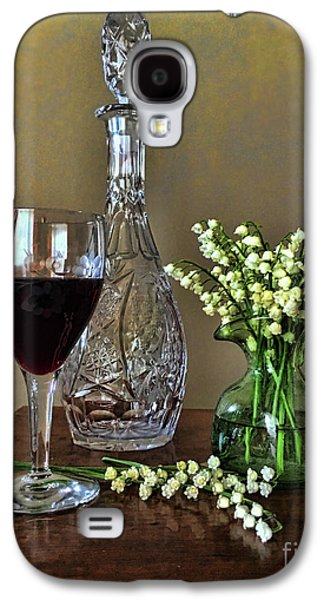 Evening Wine And Flowers  Galaxy S4 Case by Luther Fine Art
