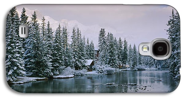 Evergreen Trees Covered With Snow Galaxy S4 Case by Panoramic Images