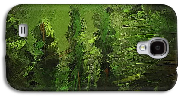 Evergreens - Green Abstract Art Galaxy S4 Case