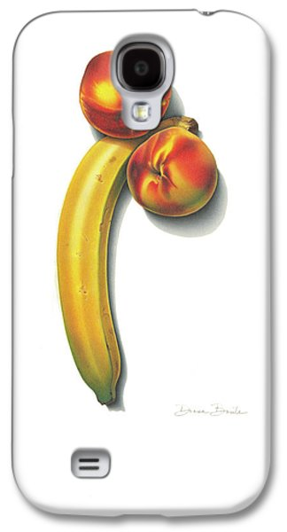 Galaxy S4 Case featuring the drawing Eve's Favorite Fruit by Donna Basile