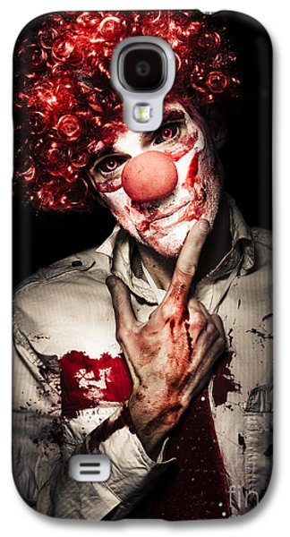 Evil Blood Stained Clown Contemplating Homicide Galaxy S4 Case by Jorgo Photography - Wall Art Gallery