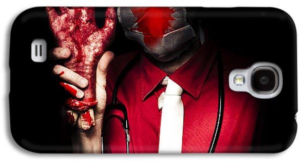 Evil Dark Medical Surgeon Waving Amputated Hand Galaxy S4 Case by Jorgo Photography - Wall Art Gallery