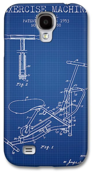 Exercise Machine Patent From 1953 - Blueprint Galaxy S4 Case by Aged Pixel