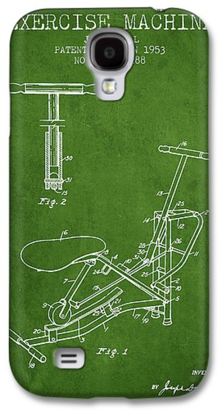 Exercise Machine Patent From 1953 - Green Galaxy S4 Case by Aged Pixel