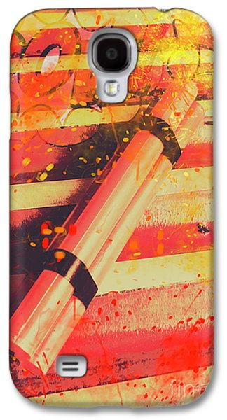 Explosive Comic Art Galaxy S4 Case by Jorgo Photography - Wall Art Gallery