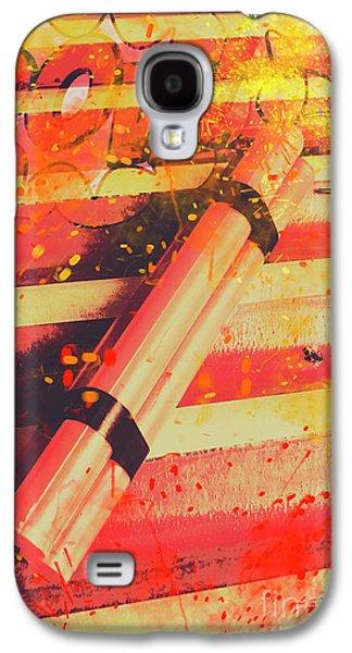 Explosive Comic Art Galaxy S4 Case