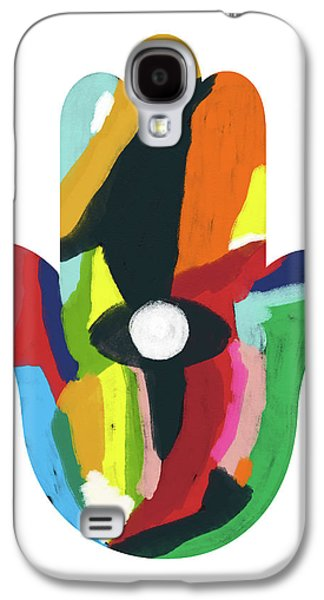 Expressionist Hamsa- Art By Linda Woods Galaxy S4 Case by Linda Woods