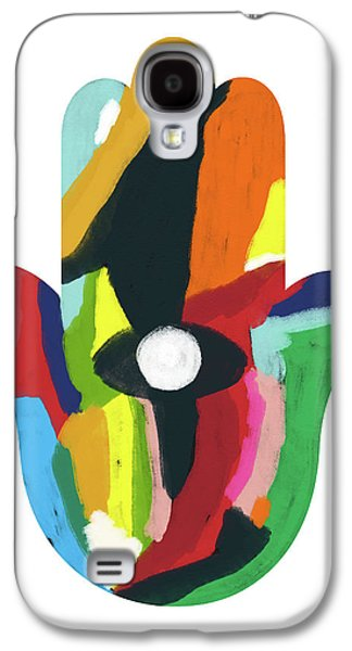 Expressionist Hamsa- Art By Linda Woods Galaxy S4 Case