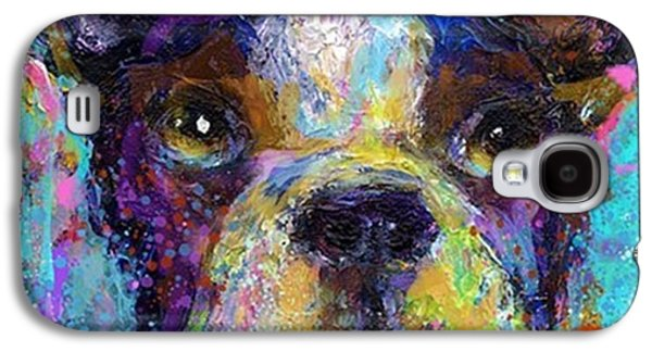 Expressive Boston Terrier Painting By Galaxy S4 Case