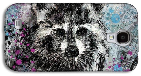 Expressive Raccoon Galaxy S4 Case