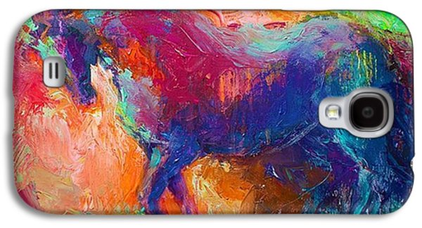 Expressive Stallion Painting By Galaxy S4 Case