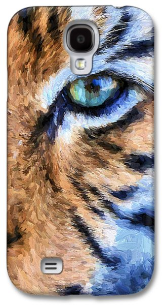 Eye Of The Tiger Galaxy S4 Case by JC Findley