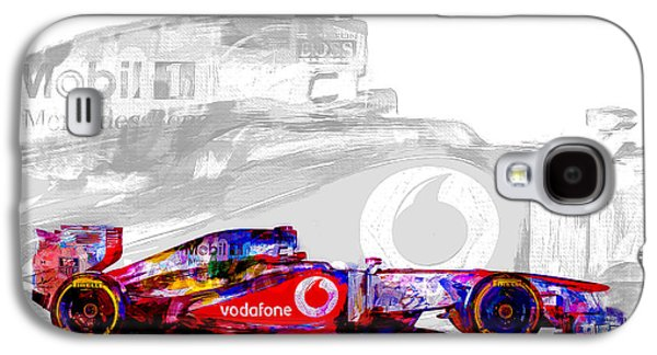 F1 Race Car Digital Painting Galaxy S4 Case