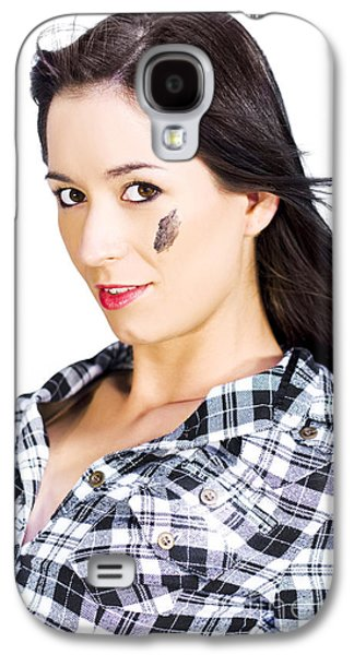 Face Of A Female Machanic Galaxy S4 Case by Jorgo Photography - Wall Art Gallery