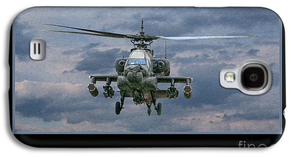 Helicopter Galaxy S4 Case - Face Of Death Ah-64 Apache Helicopter by Randy Steele