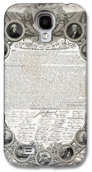 July 4 Galaxy S4 Case - Facsimile Of The Original Draft Of The Declaration Of Independence 1776 by American School