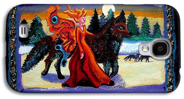 Faerie And Wolf Galaxy S4 Case by Genevieve Esson