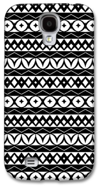 Fair Isle Black And White Galaxy S4 Case by Rachel Follett
