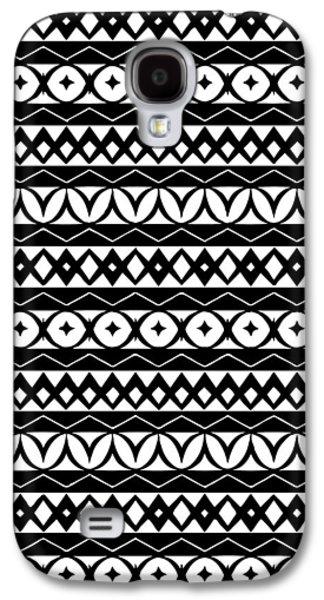 Fair Isle Black And White Galaxy S4 Case