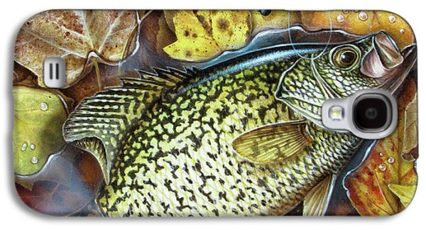 Fall Crappie Galaxy S4 Case by JQ Licensing