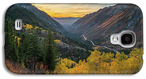 Fall Sunset In Little Cottonwood Canyon Galaxy S4 Case