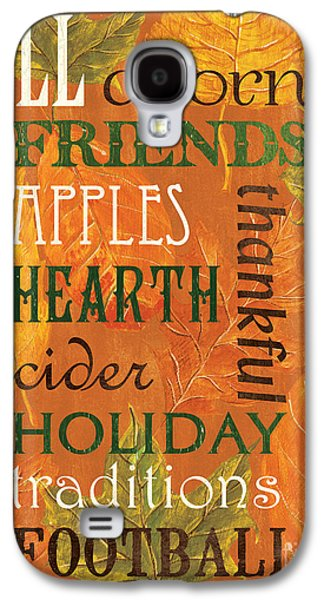 Pumpkin Galaxy S4 Case - Fall Typography 2 by Debbie DeWitt