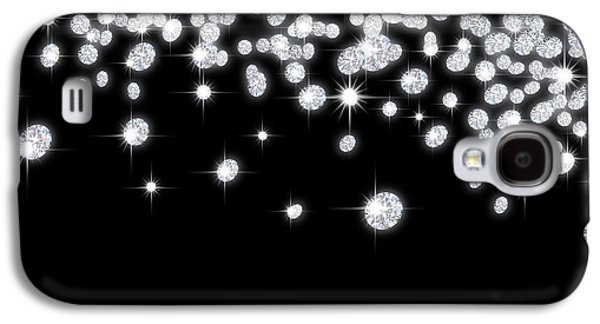 Stones Jewelry Galaxy S4 Cases - Falling Diamonds Galaxy S4 Case by Setsiri Silapasuwanchai
