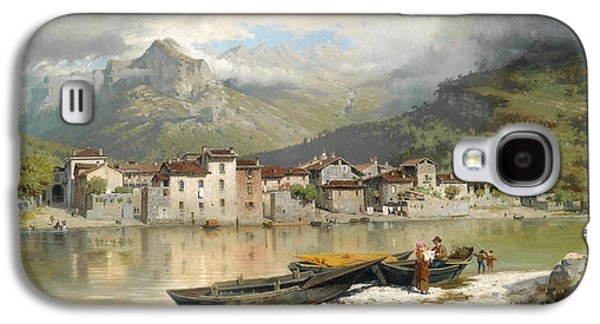 Family Fisherman In Lecco On Lake Como Galaxy S4 Case