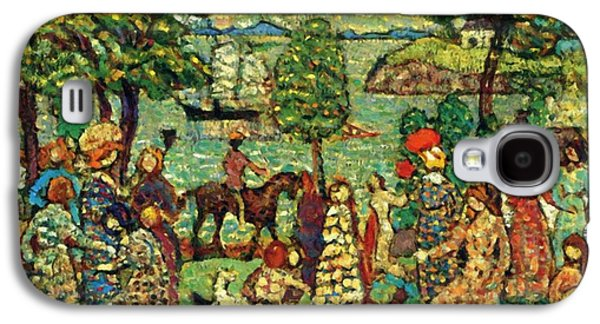 Fantasy Landscape With Figure Galaxy S4 Case - Fantasy Also Known As Landscape With Figures by Prendergast Maurice