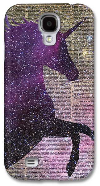Fantasy Unicorn In The Space Galaxy S4 Case by Jacob Kuch