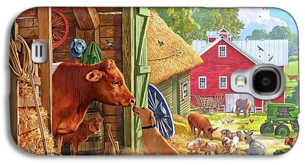 Farm Scene In America Galaxy S4 Case by Steve Crisp