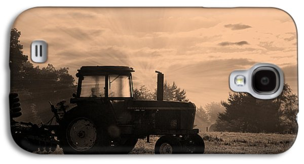 Farming Good Morning John Deere Sepia Galaxy S4 Case by Thomas Woolworth