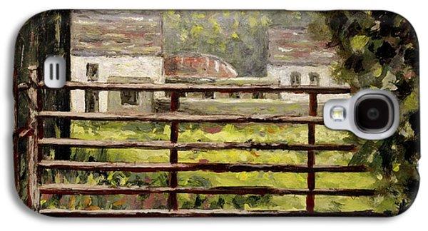 Farmyard Gate Galaxy S4 Case by John  Nolan