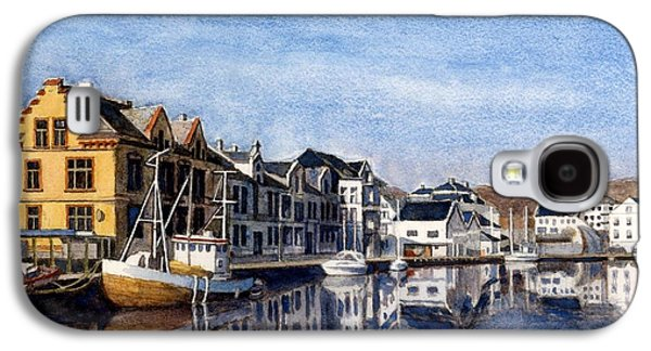 Farsund Dock Scene 2 Galaxy S4 Case by Janet King