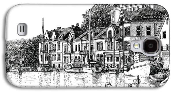 Farsund Harbor In Ink Galaxy S4 Case