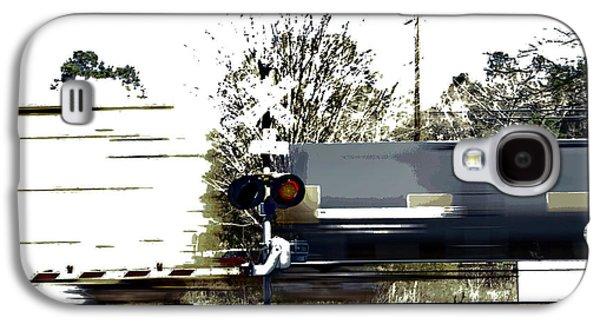Faster Than A Speeding Train Galaxy S4 Case by Skip Willits