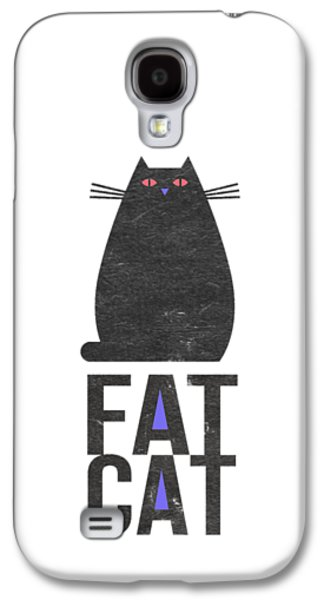 Fat Cat Galaxy S4 Case by Edward Fielding