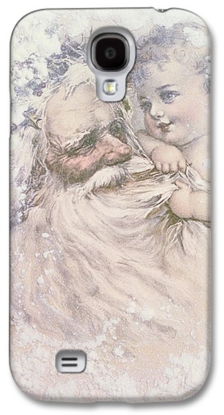 Father Christmas And A Child Galaxy S4 Case by English School
