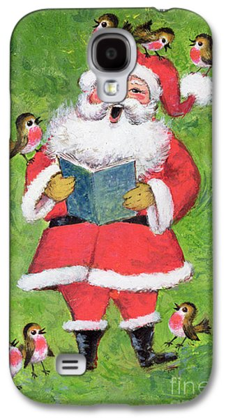 Father Christmas And Robin Chorus Galaxy S4 Case by Stanley Cooke
