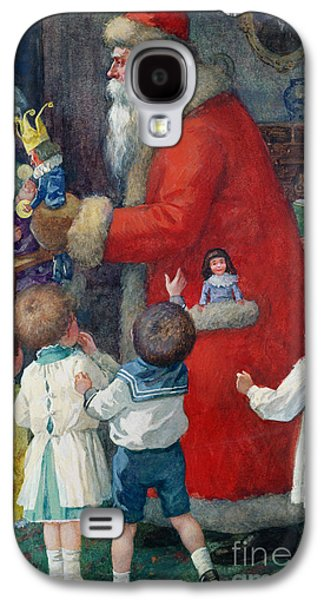 Father Christmas With Children Galaxy S4 Case by Karl Roger