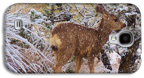 Fawn's First Snow Galaxy S4 Case by Feva Fotos