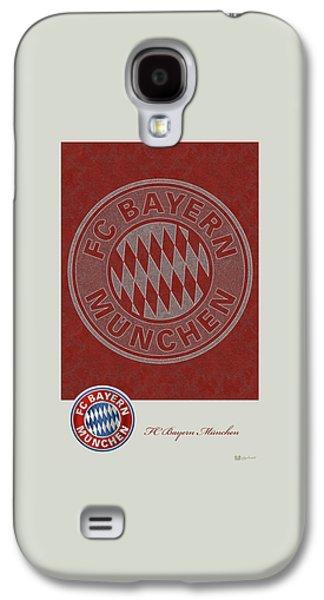 Fc Bayern Munich Logo And 3d Badge Galaxy S4 Case by Serge Averbukh