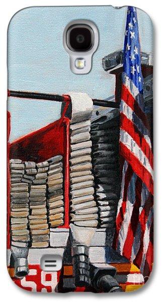 Harlem Galaxy S4 Case - Fdny Engine 59 American Flag by Paul Walsh