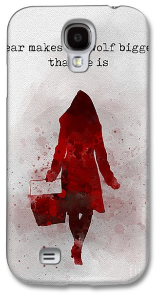 Fear Makes The Wolf Bigger Than He Is Galaxy S4 Case by Rebecca Jenkins