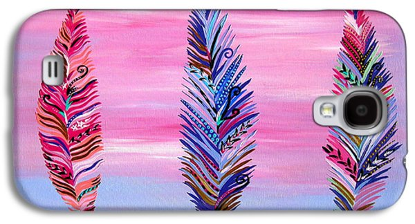 Feathers II Galaxy S4 Case by Cathy Jacobs