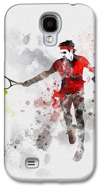 Federer Galaxy S4 Case by Rebecca Jenkins
