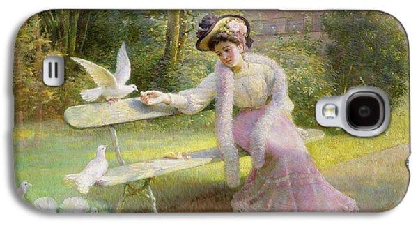 Feeding The Doves  Galaxy S4 Case by Edmond Alphonse Defonte
