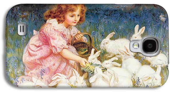 Feeding The Rabbits Galaxy S4 Case by Frederick Morgan